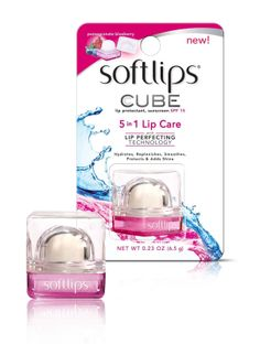Softlips Cube Pomegranate Blueberry Brand New 5 in 1 Lip Care SPF 15 Lip Balm I got this complimentary of @Influenster #springflingvoxbox