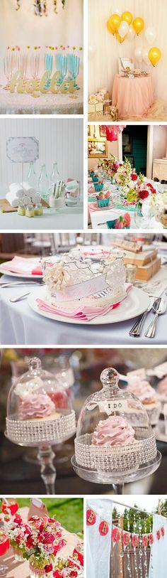 bridal showers in los angeles Girlie Bridal Shower Inspiration