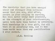 J K ROWLING quote Literary quote strength wisdom by PoetryBoutique