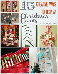 15 Creative Ways to Display Christmas Cards via @Jenna_Burger via sasinteriors.net #LowesCreator #LowesCreativeIdea