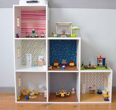 DIY - Faire une maison de poupée soit même facilement - Maison de poupée dans l'esprit Ikea hacking