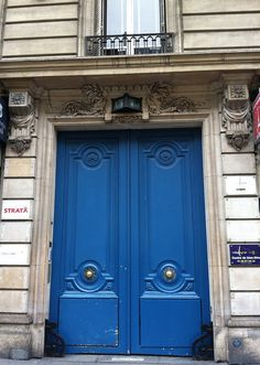 French blue Paris door,  by quatrefoil18, via Flickr