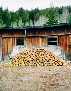 Chopping, cabin life, splitting, stacks of fire wood