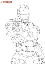 Iron Man Coloring Pages Free Printable For Adult
