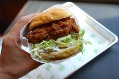 Who serves the best fried chicken sandwich in NYC? July 22, 2015. New Yorkers are flocking around the city for fried chicken! You can barely walk a few blocks in the city these days without the smell of fried chicken tantalizing your tastebuds. With hour-long lines for David Chang's new Fuku and a quickly sold-out Chickenshack sandwich at Shake Shack, we wanted to see what all the fuss was really about.Here is amNewYork's official taste test of some of New York City.