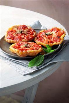 Mini-tatins de tomates cerises