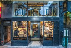 Burton Snowboards opens Bay Area stores just in time for riding season Retail News, Retail Shop, Window Graphics, Shopping Street, Burton Snowboards, Shop Front Design, Retail Design, Model Trains