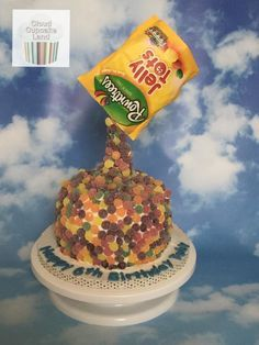 Jelly Tots Pouring Cake - Cake by Deb