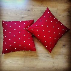 Cute love heart cushions made by one of our girls. Fabric still available in store! Cute Love Heart, Heart Cushion, Fabric Boxes, Our Girl, Cushions, Store, Girls, Crafts, Throw Pillows