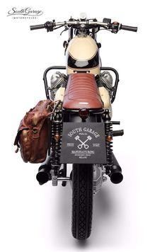 Gift for Classic Motorcycle Enthusiast Yamaha RD350 Retro Motorcycle Advertising Mug