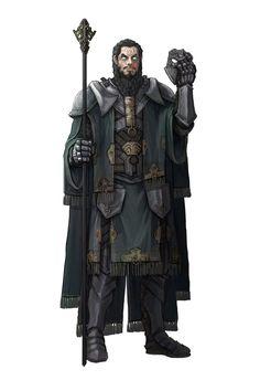 m Cleric/Rogue Assassin multi-class Staff Mask med armor Cape ArtStation - Character Concept Art: Mage, Guillem Daudén