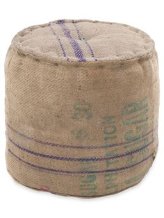 Seaport Pouf $69 made of jute.  Could totally DIY this!