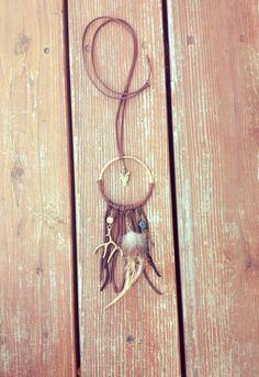 Brown Dream Catcher  Dreamcatcher Necklace by MoonflowerDaydream, $42.00