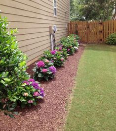 Line Up a Wall With Colorful Plants - Best Front Yard Landscaping and Garden Ide., Line Up a Wall With Colorful Plants – Best Front Yard Landscaping and Garden Ide…, # Garden Deco, Diy Garden, Lawn And Garden, Garden Guide, Garden Ideas In Front Of House, House Ideas, Landscape Plans, House Landscape, Landscape Designs