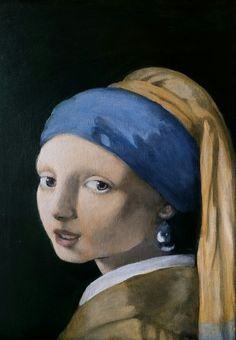 Girl with a pearl earring Fourth color glaze
