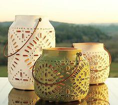 Ceramic lanterns from Pottery Barn