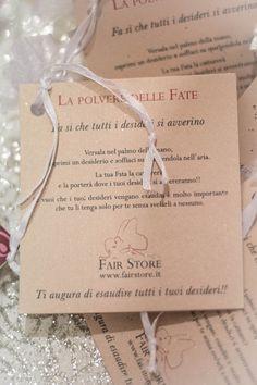 cartoncino gadget #fairstore #polvere di fata
