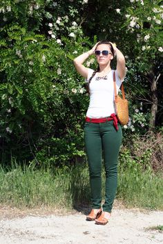 Day 17: Green green jeans and flowers