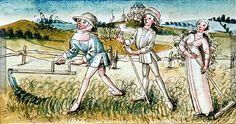 Monat Juli   Dieses Bild: 006785     Süddeutsch   1475 ; 1475 ; Wien ; Österreich ; Wien ; Österreichische Nationalbibliothek ; cod. 3085 ; fol. 6r