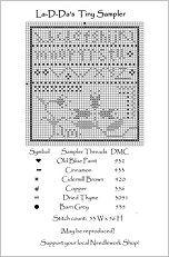 TinySampler Free Cross Stitch Chart from La-D-Da