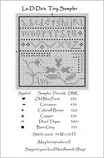 TinySampler Free Cross Stitch Chart from La-D-Da