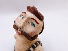 circus sideshow art doll strongman moustache