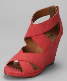 Take a look at this Coral Gracey Wedge Sandal by Michael Antonio on #zulily today!