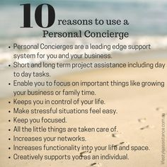 10 Reasons to use a Personal Concierge