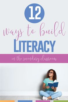 12 Ways to Build Literacy in the Secondary Classroom Fun Classroom Activities, Ela Classroom, Classroom Language, English Classroom, Classroom Libraries, English Teachers, Classroom Decor, Teaching Language Arts, Teaching English