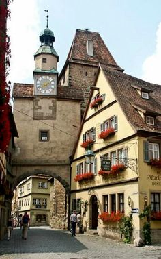 View of the Walled City of Rothenburg, Bavaria, Germany. I of my favorite places in Germany to visit.