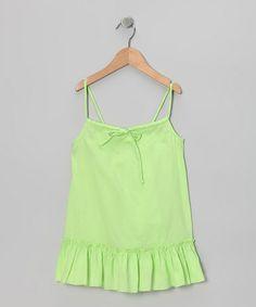 Love this Green Swing Tunic - Toddler & Girls on #zulily! #zulilyfinds