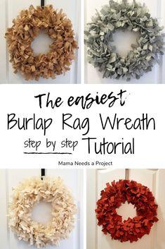 How to make a rag wreath - super fluffy!How to make a rag wreath - super fluffy!DIY Burlap Rag Garland Tutorial Mom needs a projectDIY Burlap Rag Garland Tutorial Mom needs a projectDIY Burlap Rag Burlap Crafts, Wreath Crafts, Diy Wreath, Burlap Projects, Diy Crafts, Tulle Wreath, Wreath Making, Wreath Ideas, Indoor Wreath