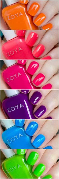 Neon Nail Polish, Neon Nails, Swatch, Feminine, Make Up, Colorful, Easy, Life, Collection