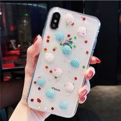 clear mermaid seashell iPhone x case Iphone Cases Cute, Cute Cases, Ipod Cases, Diy Phone Case, Iphone 6, Coque Iphone, Modelos Iphone, Phone Charger Holder, Accessoires Iphone