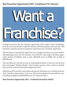by Carrie Giaconia via Slideshare Best Franchise Opportunities, Company Structure, Franchise Business, Document Sharing, Carrie, Over The Years, Opportunity, Success, Internet
