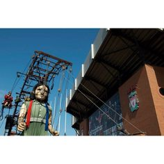 Royal De Luxe Art Giant Girl - visits Anfield Liverpool Football