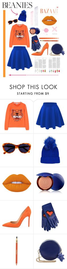 """""""Poem poem beanies"""" by nelviaaurora ❤ liked on Polyvore featuring Kenzo, Taylor Morris, Topshop, Lime Crime, Guerlain, Gianvito Rossi, Boutique Moschino and Sisley"""