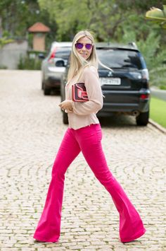Hot pink flared bottoms :)