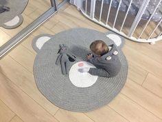 Kids mat IN STOCK Baby carpet Carpet for kids Nursery rug Rug for kids Baby rug Crochet bear rug Crochet carpet Crochet mat Teddy bear rug by MagicKnitShop on Etsy Crochet Mat, Crochet Carpet, Carpets For Kids, Kids Rugs, Bear Rug, Knit Rug, Circle Rug, Oval Rugs, Ribbon Yarn
