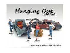 """Hanging Out"" 6 Pieces Figure Set For 1:24 Scale Models by American Diorama - Packed in a blister pack. Only 6 figures will be received. Dimensions of the figures are between 1.6 and 3 inches. James, Wendy, Mark, George, Bob and Billy.-Weight: 4. Height: 8. Width: 15. Box Weight: 4. Box Width: 15. Box Height: 8. Box Depth: 7"