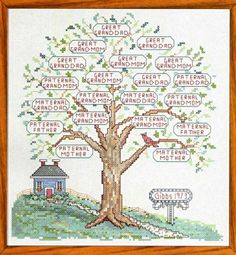 Family Tree II Counted Cross Stitch Pattern [LOVE this one!]