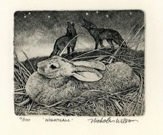 Nightfall Original Etching by Nicholas Wilson