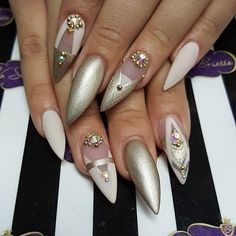 A manicure is a cosmetic elegance therapy for the finger nails and hands. A manicure could deal with just the hands, just the nails, or Sexy Nails, Hot Nails, Fancy Nails, Hair And Nails, Nail Art Swag, Nail Art Noel, Fabulous Nails, Gorgeous Nails, Pretty Nails
