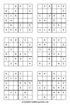 Here are thousands of free Sudoku puzzles to print. Each booklet of printable Sudoku contains eight puzzles, instructions, hints and answers. Puzzles Für Kinder, Sudoku Puzzles, Logic Puzzles, Kids Puzzles, Hard Puzzles, Number Puzzles, Worksheets For Kids, Math Worksheets, Fun Math