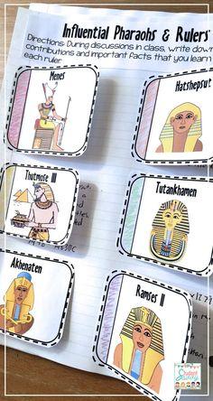 Ancient Egypt - 6th Grade Social Studies Interactive Journal!