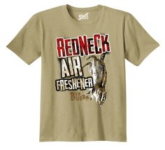 3fd2383922 Try by wearing Rat Air Freshener - Tan Printed Tee Shirt. Brisco Apparel ·  Redneck Outfitters Tees