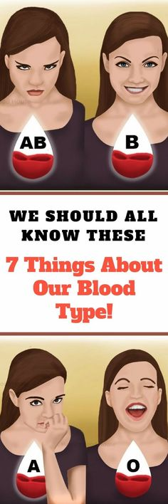 We Should All Know These 7 Things About Our Blood Type!  Astounding