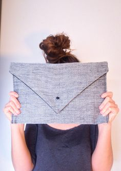 yid25 tuto DIY pochette a4 en tissu. Couture