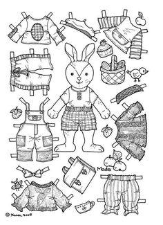 "iColor ""Paper Dolls"" ~ Bunny"