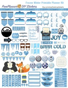 This Frozen mega bundle of over 300 stickers is available in Happy Planner and Erin Condrin sizes. Frozen Printable Planner Kit 5 PDFs, Over 300 Stickers EC or Happy Planner, Blue, Snow, Penguins, Foxes, Snowmen, Princess, Winter, Icons Includes 5 PDFs PACKED with over 300 Stickers for Erin Condrin or Happy Planner, or Filofax, Kikki …Read more...
